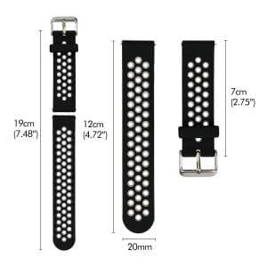 Sportbandje Voor de Samsung Gear S3 Classic Frontier - Siliconen Armband Polsband Strap Band Sportbandje - zwart - geel-021