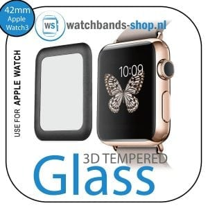 42mm full Cover 3D Tempered Glass Screen Protector For Apple watch iWatch 3 black edge_003