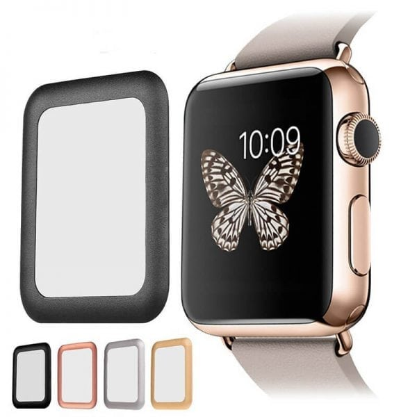 42mm full Cover 3D Tempered Glass Screen Protector For Apple watch iWatch 3 black edge_008