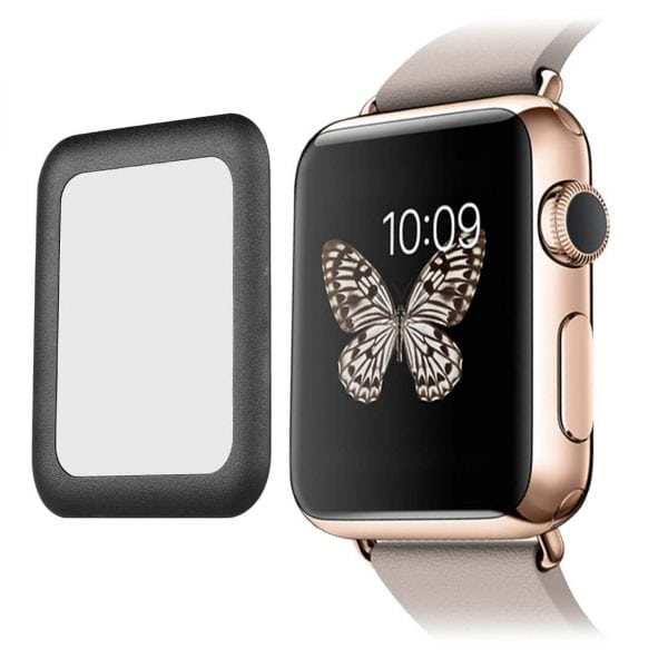 42mm full Cover 3D Tempered Glass Screen Protector For Apple watch iWatch 3 black edge_009