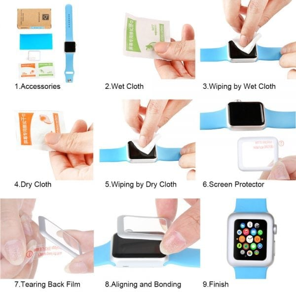 42mm full Cover 3D Tempered Glass Screen Protector For Apple watch iWatch 3 black edge_011