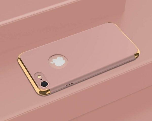 3 in 1 Rose gouden zilveren telefoonhoesje voor iPhone 7 Ultradunne TPU beschermhoes-002