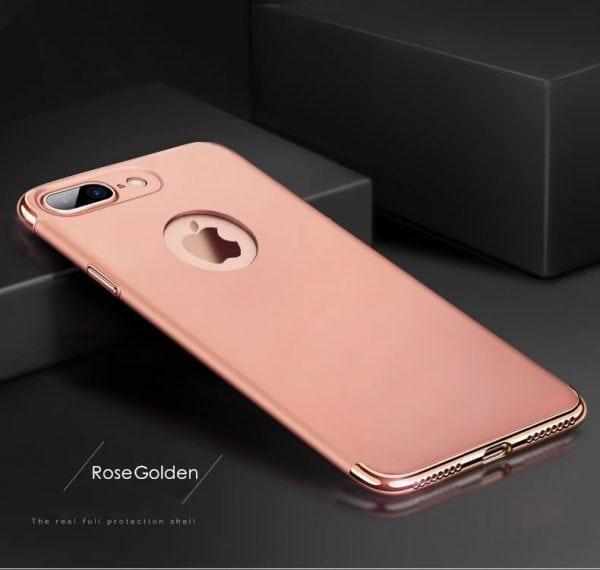 3 in 1 Rose gouden zilveren telefoonhoesje voor iPhone 7 Ultradunne TPU beschermhoes-005