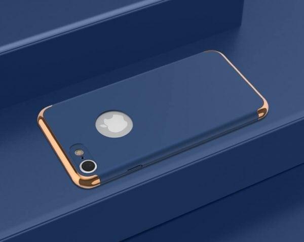 3 in 1 luxe blauwe telefoonhoesje voor iPhone 7 Ultradunne TPU beschermhoes-001