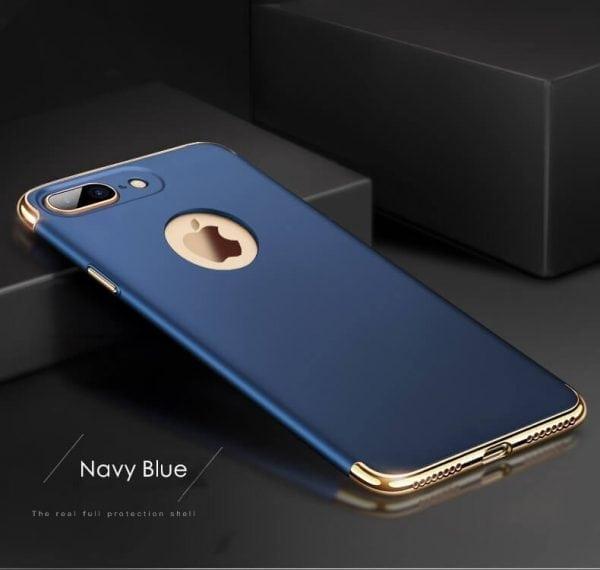3 in 1 luxe blauwe telefoonhoesje voor iPhone 7 Ultradunne TPU beschermhoes-003