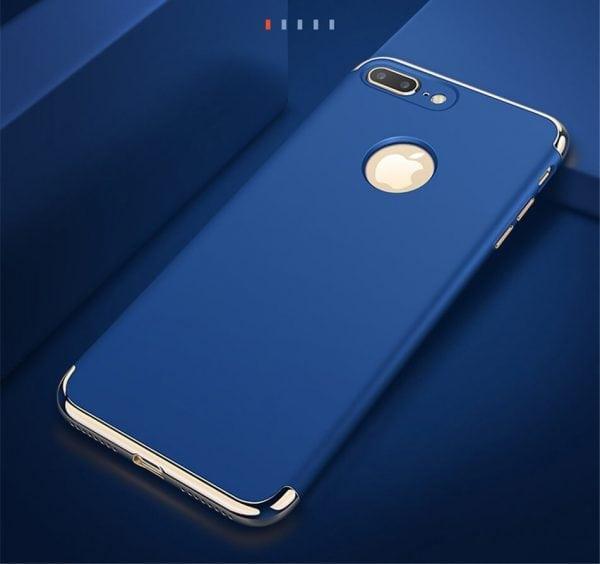 3 in 1 luxe blauwe telefoonhoesje voor iPhone 7 Ultradunne TPU beschermhoes-005