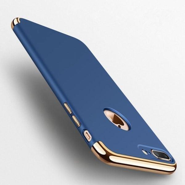 3 in 1 luxe blauwe telefoonhoesje voor iPhone 7 Ultradunne TPU beschermhoes-006