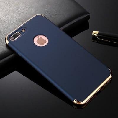 3 in 1 luxe blauwe telefoonhoesje voor iPhone 7 Ultradunne TPU beschermhoes-007