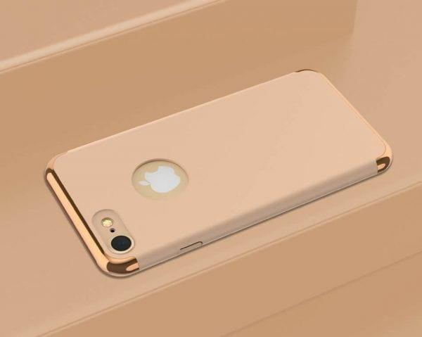 3 in 1 luxe gouden telefoonhoesje voor iPhone 7 Ultradunne TPU beschermhoes-001