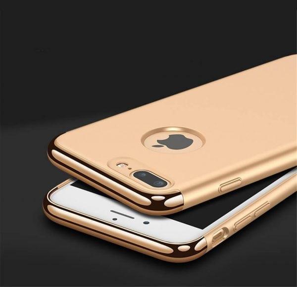 3 in 1 luxe gouden telefoonhoesje voor iPhone 7 Ultradunne TPU beschermhoes-002