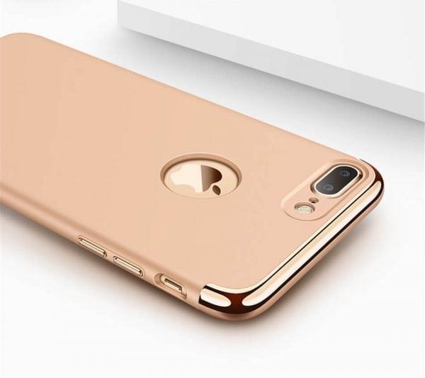 3 in 1 luxe gouden telefoonhoesje voor iPhone 7 Ultradunne TPU beschermhoes-004