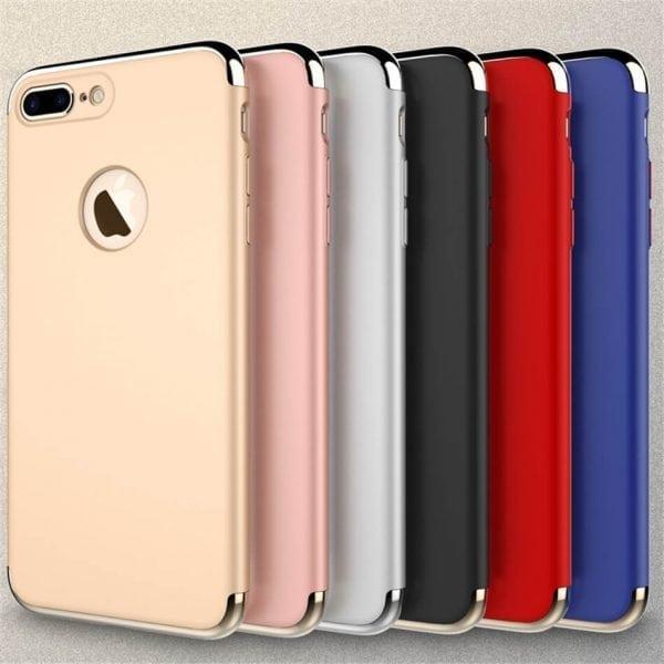 3 in 1 luxe gouden telefoonhoesje voor iPhone 7 Ultradunne TPU beschermhoes-006