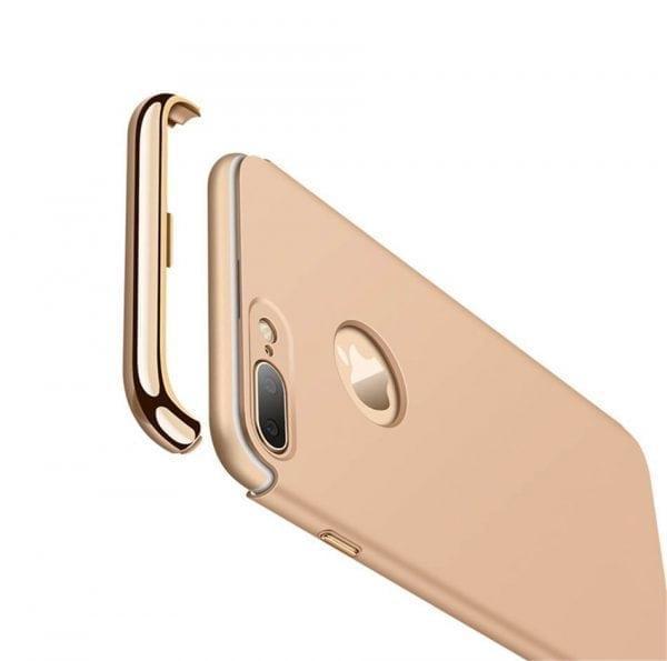 3 in 1 luxe gouden telefoonhoesje voor iPhone 7 Ultradunne TPU beschermhoes-008