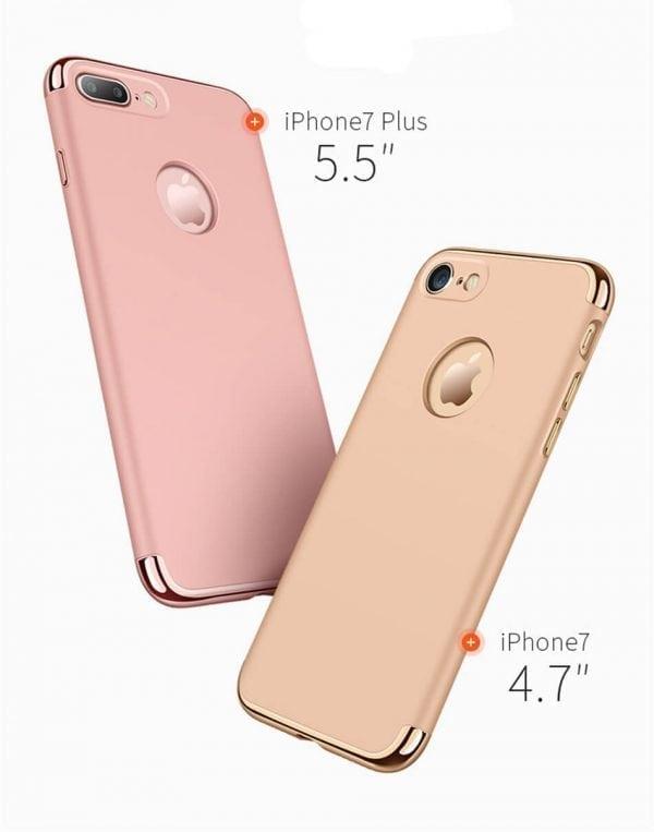 3 in 1 luxe gouden telefoonhoesje voor iPhone 7 Ultradunne TPU beschermhoes-009
