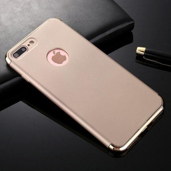 3 in 1 luxe gouden telefoonhoesje voor iPhone 7 Ultradunne TPU beschermhoes-010