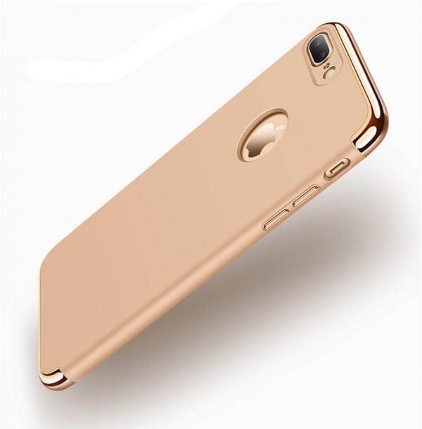 3 in 1 luxe gouden telefoonhoesje voor iPhone 7 Ultradunne TPU beschermhoes-011