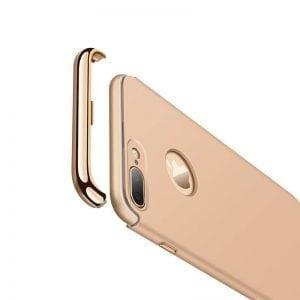 3 in 1 luxe gouden telefoonhoesje voor iPhone 7 Ultradunne TPU beschermhoes
