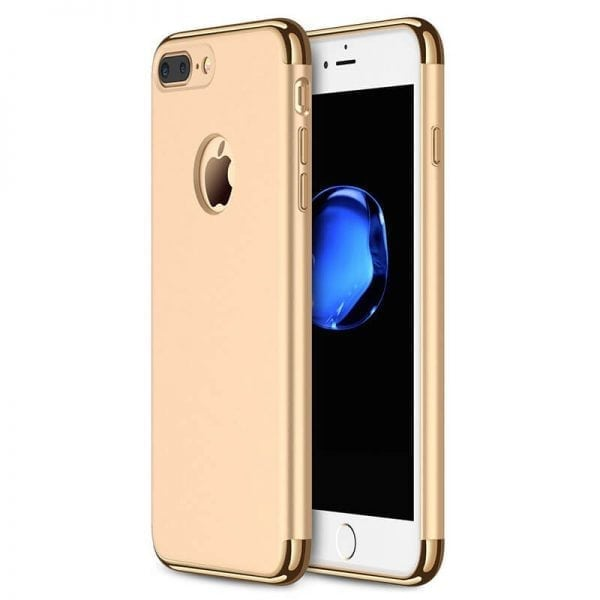 3 in 1 luxe gouden telefoonhoesje voor iPhone 7 Ultradunne TPU beschermhoes-013