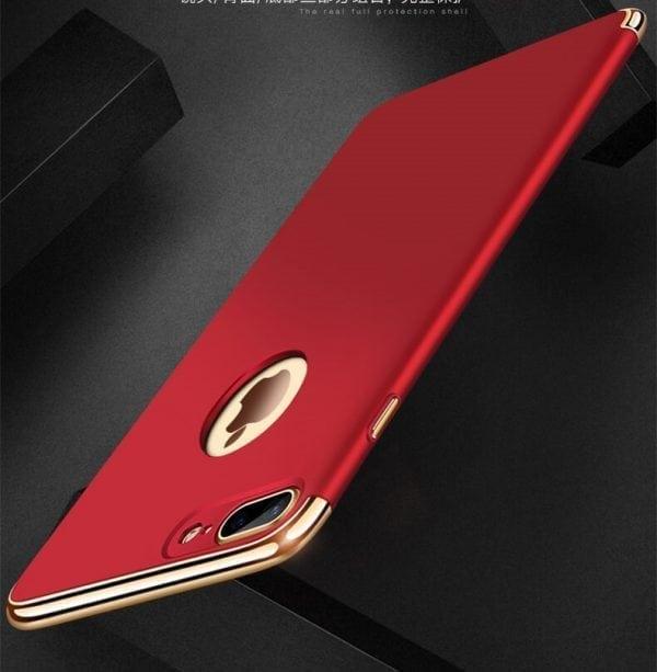 3 in 1 luxe rode telefoonhoesje voor iPhone 7 Ultradunne TPU beschermhoes-002