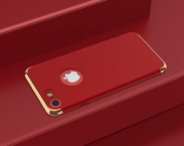 3 in 1 luxe rode telefoonhoesje voor iPhone 7 Ultradunne TPU beschermhoes-003
