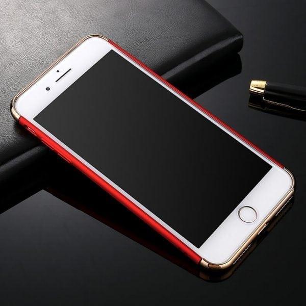 3 in 1 luxe rode telefoonhoesje voor iPhone 7 Ultradunne TPU beschermhoes-007