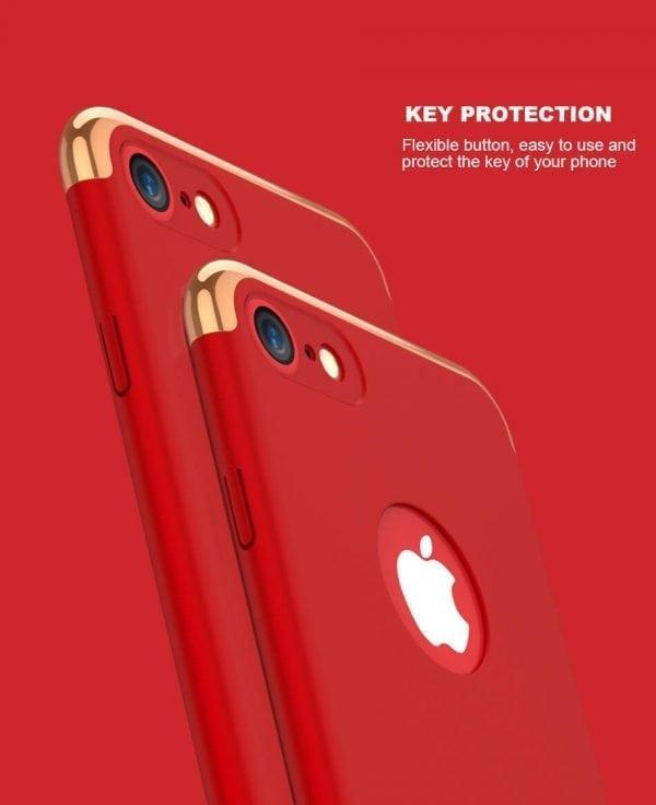 3 in 1 luxe rode telefoonhoesje voor iPhone 7 Ultradunne TPU beschermhoes-009