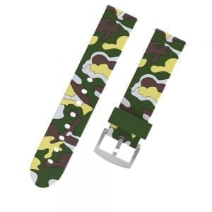 Camouflage bandje voor de Samsung Gear S3 / Galaxy watch 46mm - Siliconen Armband / Polsband / Strap Band / Sportbandje - groen