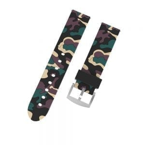 Camouflage bandje voor de Samsung Gear S3 / Galaxy watch 46mm - Siliconen Armband / Polsband / Strap Band / Sportbandje - zwart - beige