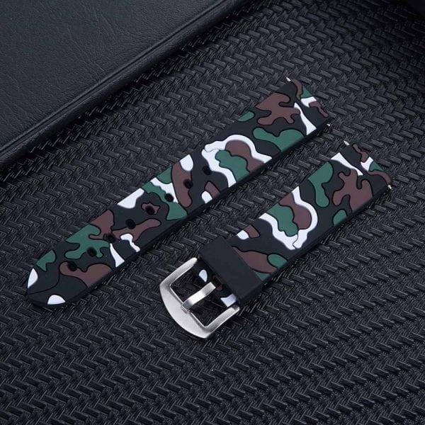Camouflage bandje voor de Samsung Gear S3 Classic Frontier - zwart - wit-002
