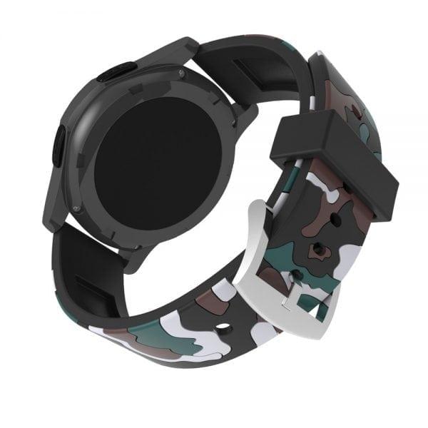 Camouflage bandje voor de Samsung Gear S3 Classic Frontier - zwart - wit-003