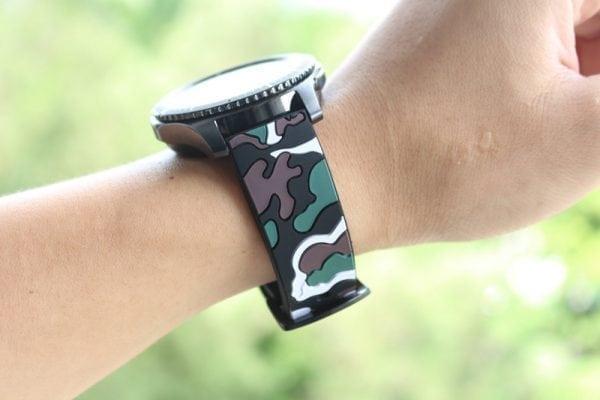 Camouflage bandje voor de Samsung Gear S3 Classic Frontier - zwart - wit-007