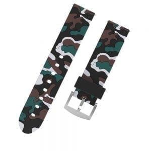 Camouflage bandje voor de Samsung Gear S3 / Galaxy watch 46mm - Siliconen Armband / Polsband / Strap Band / Sportbandje - zwart - wit