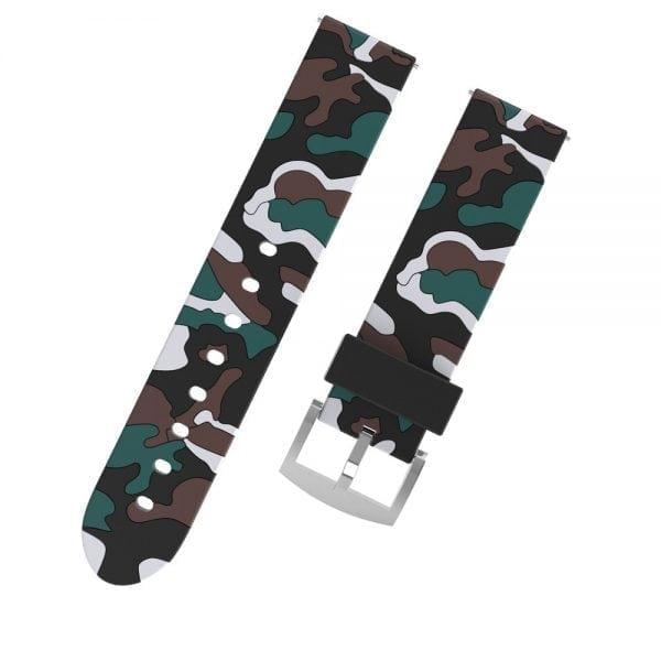 Camouflage bandje voor de Samsung Gear S3 Classic Frontier - zwart - wit-008