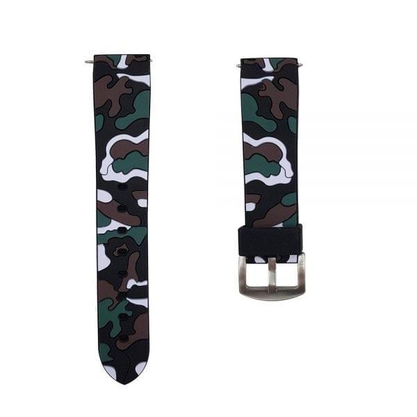 Camouflage bandje voor de Samsung Gear S3 Classic Frontier - zwart - wit-011