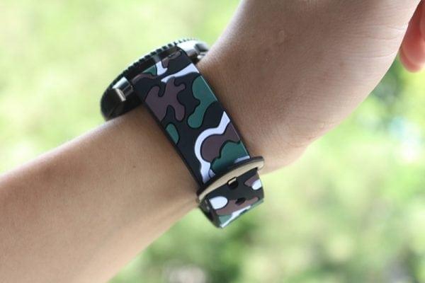 Camouflage bandje voor de Samsung Gear S3 Classic Frontier - zwart - wit-015