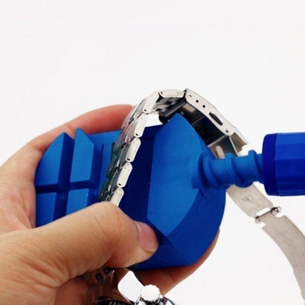 Horloge schakel toolkit horloge band inkorter blauw-003