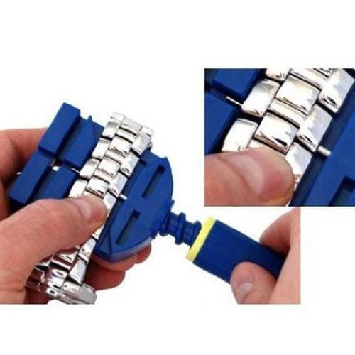 Horloge schakel toolkit horloge band inkorter blauw-012
