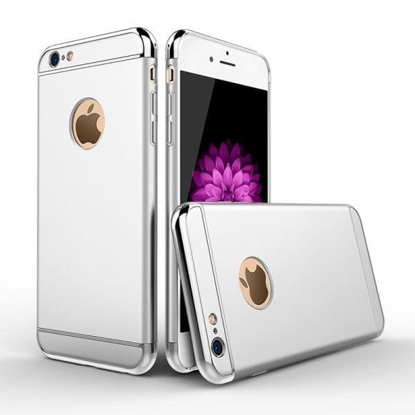 Luxe grijze telefoonhoesje voor iPhone 6 6s Plus Ultradunne TPU beschermhoes-002