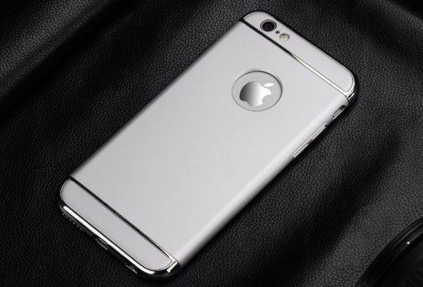 Luxe grijze telefoonhoesje voor iPhone 6 6s Plus Ultradunne TPU beschermhoes-004