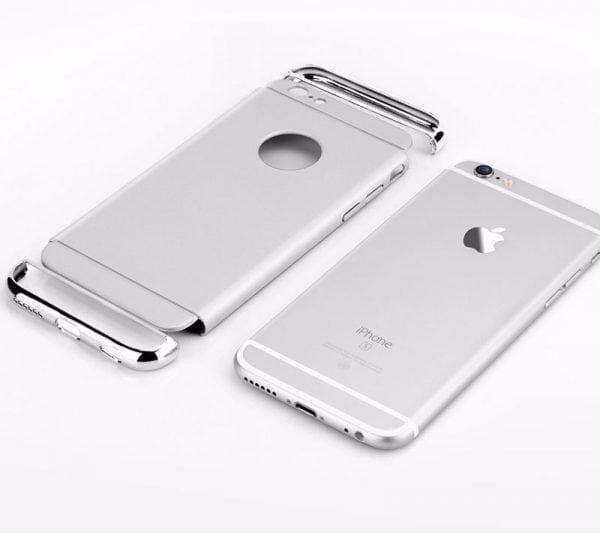 Luxe grijze telefoonhoesje voor iPhone 6 6s Plus Ultradunne TPU beschermhoes-005