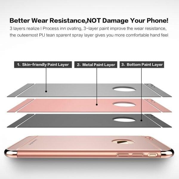 Luxe rode telefoonhoesje voor iPhone 6 : 6s Plus Ultradunne TPU beschermhoes-001