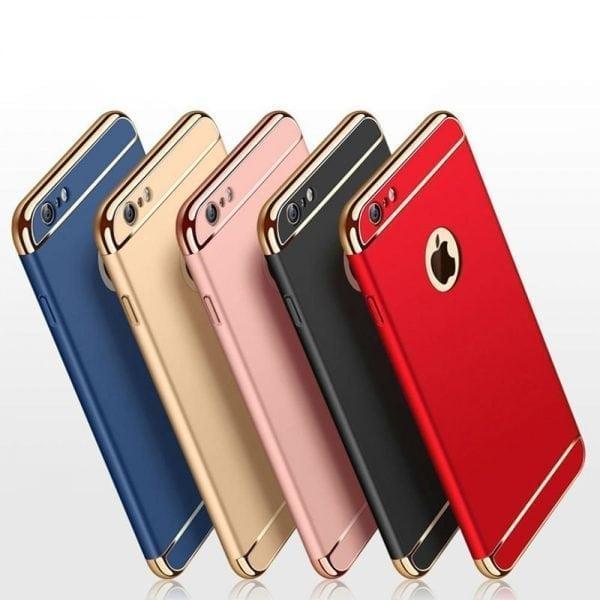 Luxe rode telefoonhoesje voor iPhone 6 : 6s Plus Ultradunne TPU beschermhoes-004