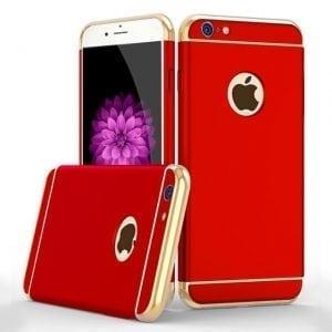 Luxe rode telefoonhoesje voor iPhone 6 / 6s Plus Ultradunne TPU beschermhoes