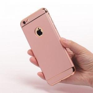 Luxe roze gouden telefoonhoesje voor iPhone 6 / 6s Plus Ultradunne TPU beschermhoes