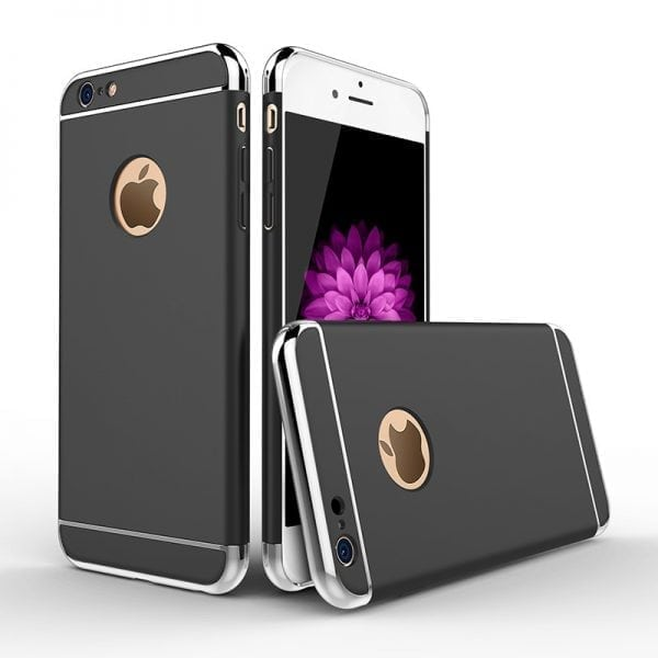 Luxe zwarte telefoonhoesje voor iPhone 6 6s Plus Ultradunne TPU beschermhoes-002