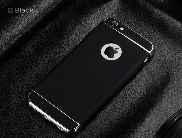 Luxe zwarte telefoonhoesje voor iPhone 6 6s Plus Ultradunne TPU beschermhoes-003