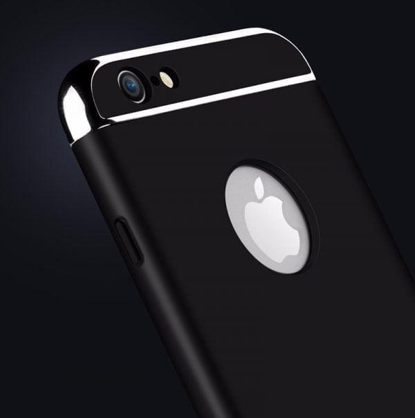 Luxe zwarte telefoonhoesje voor iPhone 6 6s Plus Ultradunne TPU beschermhoes-004