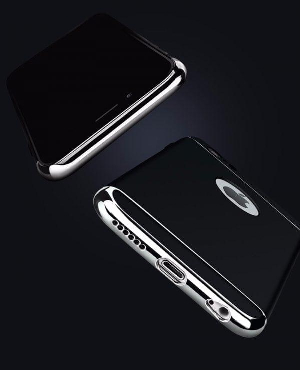 Luxe zwarte telefoonhoesje voor iPhone 6 6s Plus Ultradunne TPU beschermhoes-005