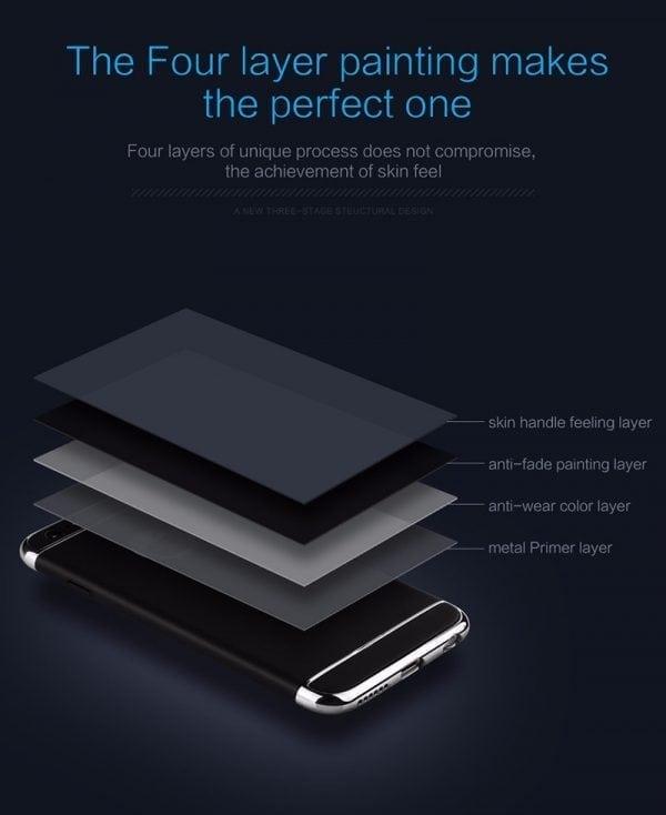 Luxe zwarte telefoonhoesje voor iPhone 6 6s Plus Ultradunne TPU beschermhoes-006