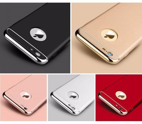 Luxe zwarte telefoonhoesje voor iPhone 6 6s Plus Ultradunne TPU beschermhoes-007